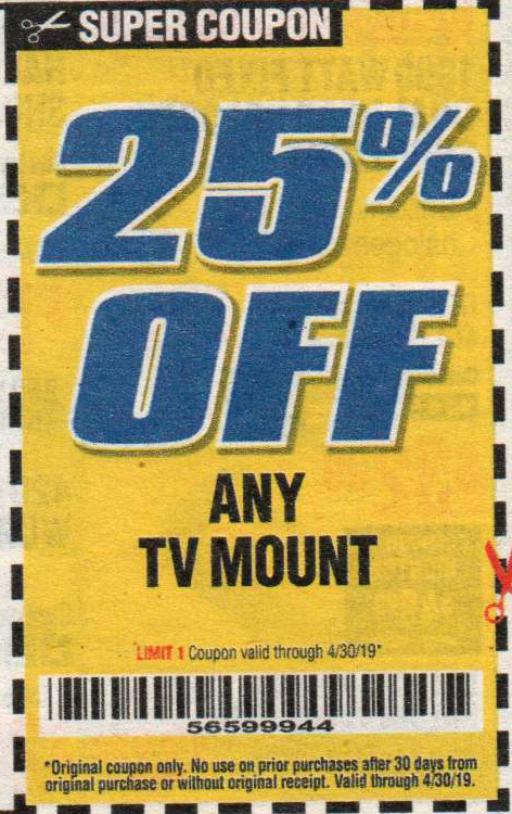 Harbor Freight Tools Coupons, Harbor Freight Coupon, HF Coupons-Any TV MOUNT