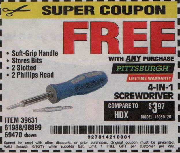 Harbor Freight Coupons, HF Coupons, 20% off - FREE - 39631