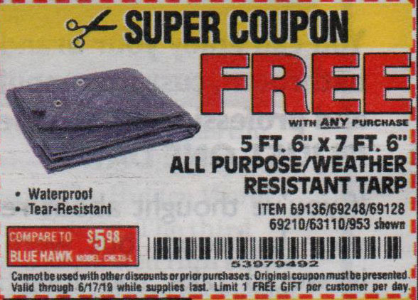 Harbor Freight Coupons, HF Coupons, 20% off - FREE - 5 Ft. 6