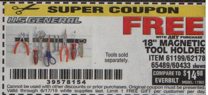 Harbor Freight Coupons, HF Coupons, 20% off - FREE - 18