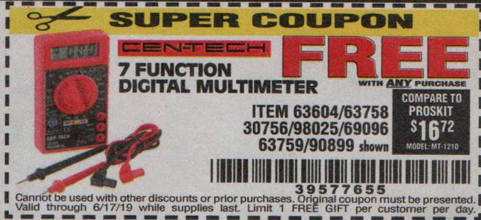 Harbor Freight Coupons, HF Coupons, 20% off - FREE - 30756