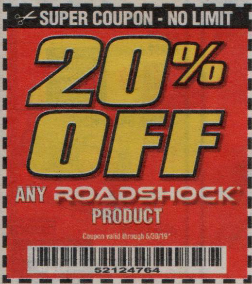 Harbor Freight Coupons, HF Coupons, 20% off - ANY PROADSHOCK PRODUCT