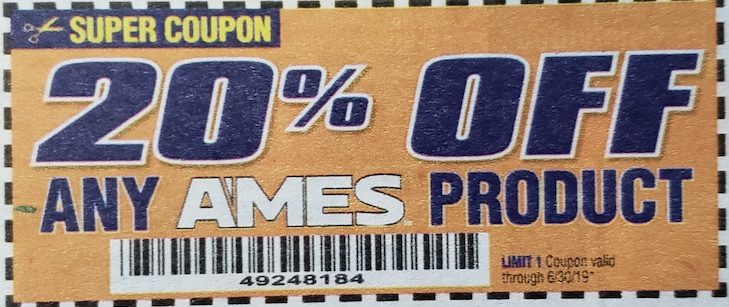 Harbor Freight Coupons, HF Coupons, 20% off - ANY AMES PRODUCT 20% OFF