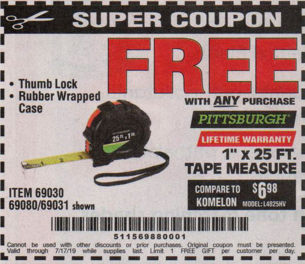 Harbor Freight Coupons, HF Coupons, 20% off - FREE - 1