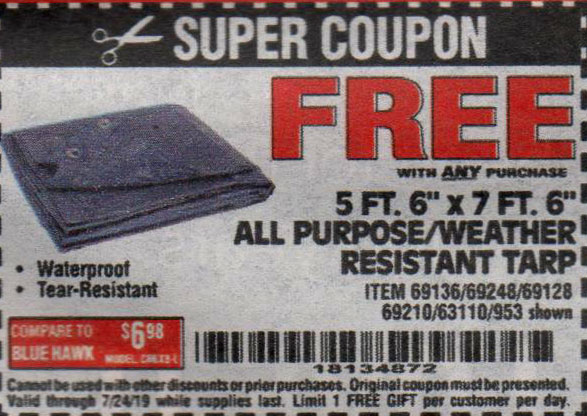 Harbor Freight Coupons, HF Coupons, 20% off - FREE - 5ft.6