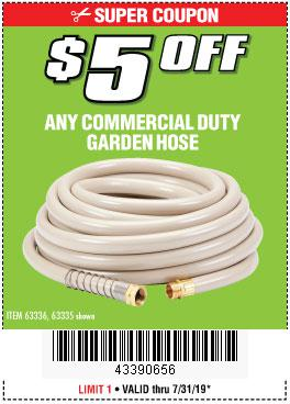 Harbor Freight Coupons, HF Coupons, 20% off - ANY COMMERCIAL DUTY GARDEN HOSE