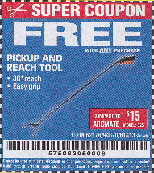 Harbor Freight Coupons, HF Coupons, 20% off - FREE - 36