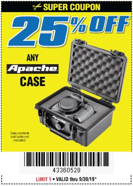 Harbor Freight Coupons, HF Coupons, 20% off - ANY APACHE CASE