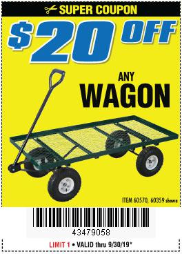 Harbor Freight Coupons, HF Coupons, 20% off - ANY WAGON