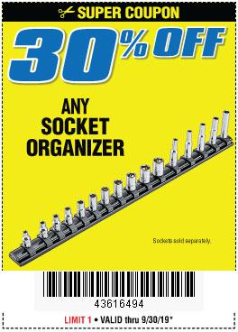 Harbor Freight Coupons, HF Coupons, 20% off - ANY SOCKET ORGANIZER