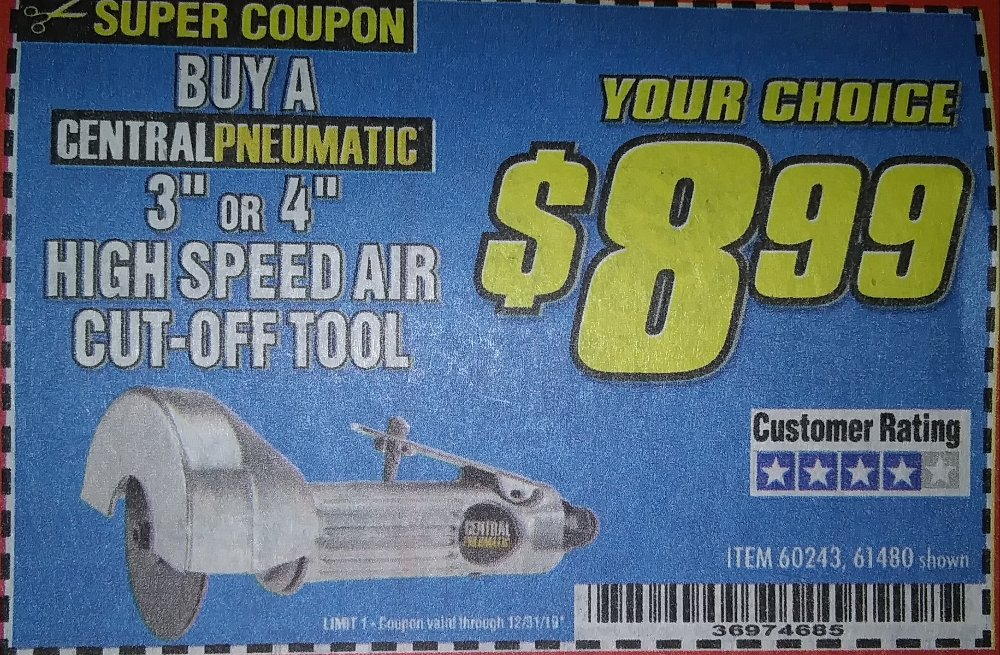Harbor Freight Coupons, HF Coupons, 20% off - HIGH SPEED AIR CUT-OFF TOOL