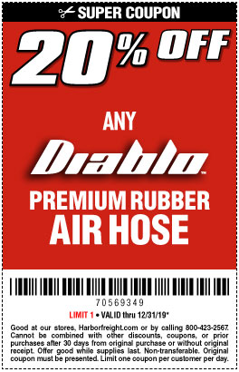 Harbor Freight Coupons, HF Coupons, 20% off - Air Hose