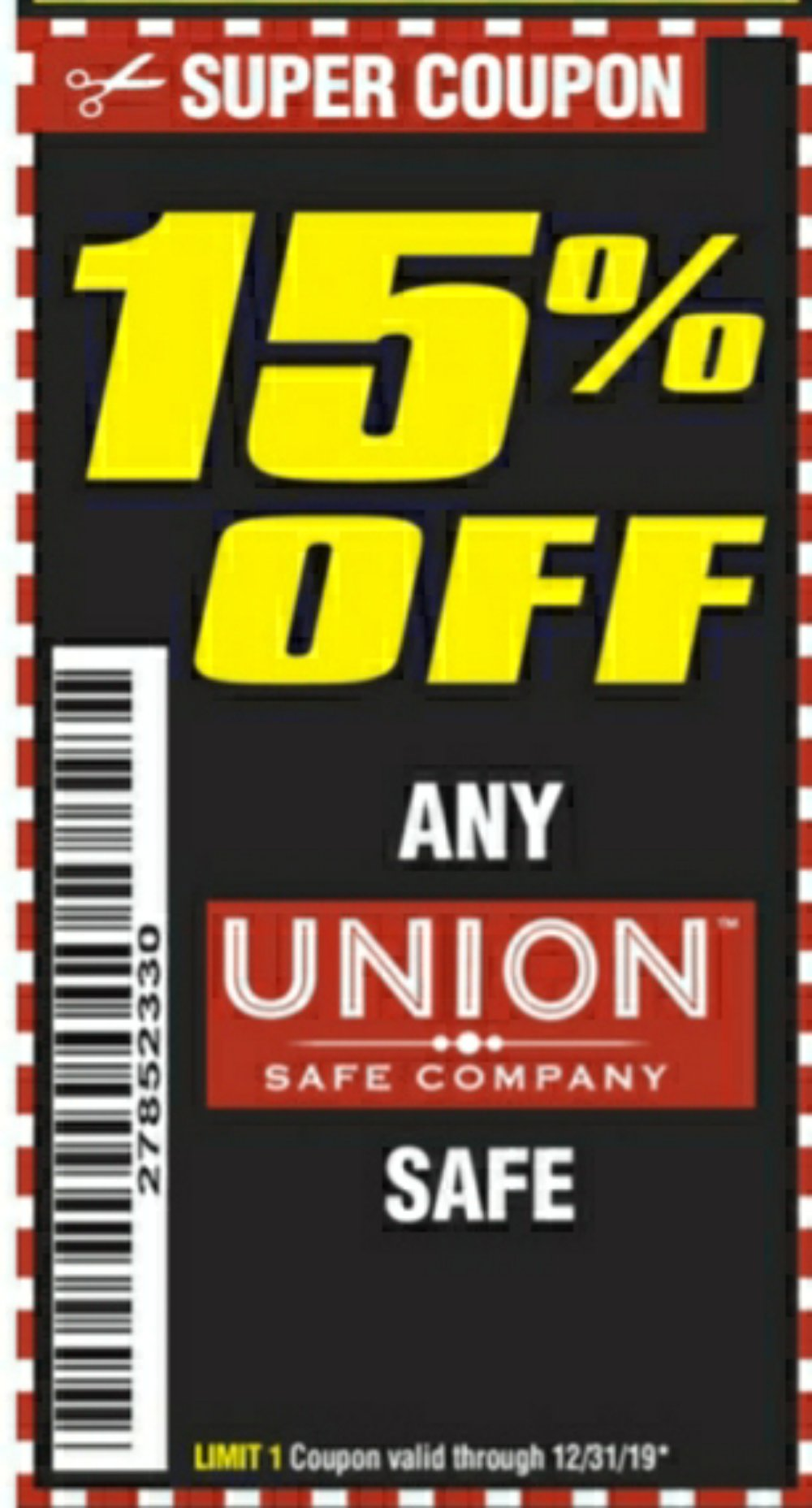 Harbor Freight Coupons, HF Coupons, 20% off - Any Union Safe
