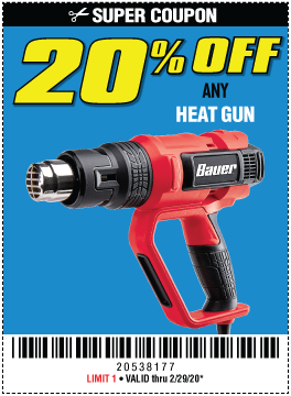 Harbor Freight Coupons, HF Coupons, 20% off - 20% OFF FOR ANY HEAT GUN