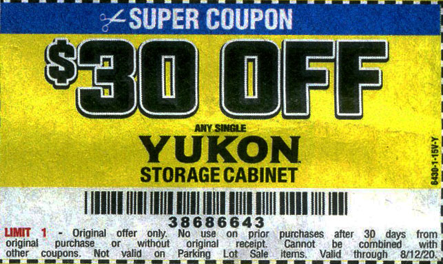 Harbor Freight Coupons, HF Coupons, 20% off - $30 off for any YUKON storage cabinet