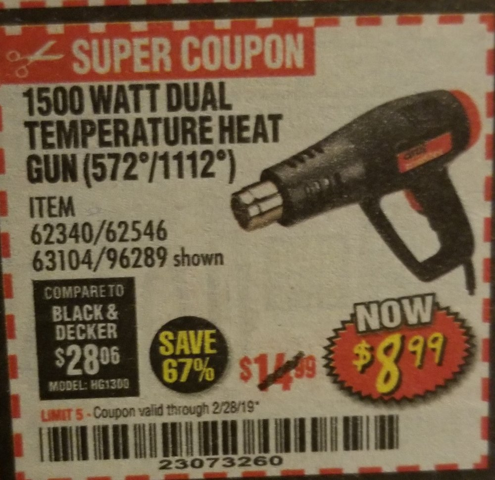 Harbor Freight Coupon, HF Coupons - heat gun