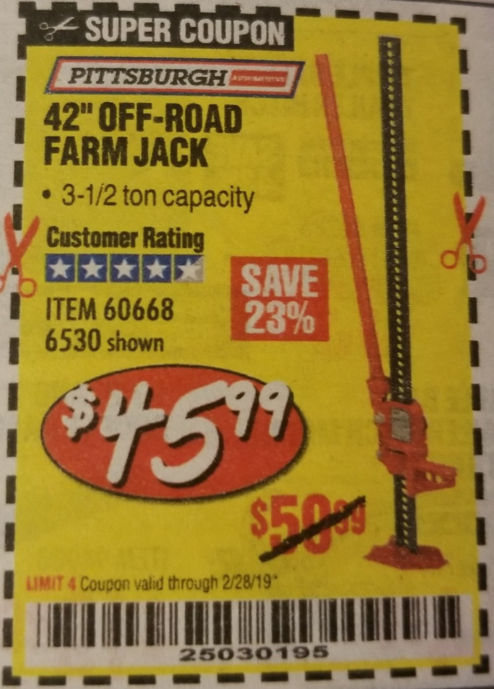 Harbor Freight Coupon, HF Coupons - off road jack