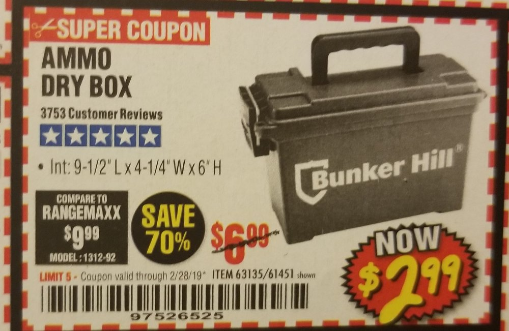 Harbor Freight Coupon, HF Coupons - ammo dry box