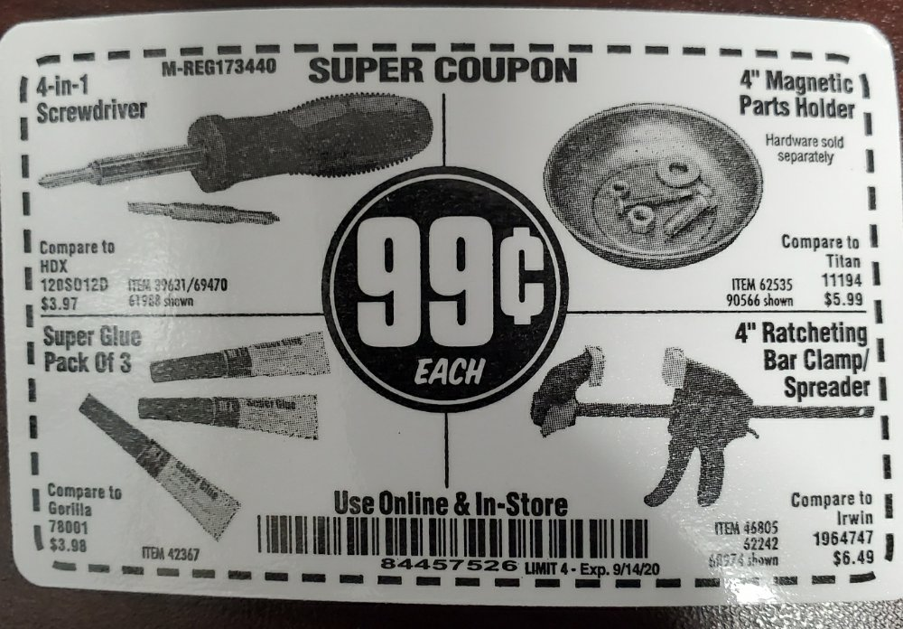 Harbor Freight Coupon, HF Coupons - $0.99 coup9n