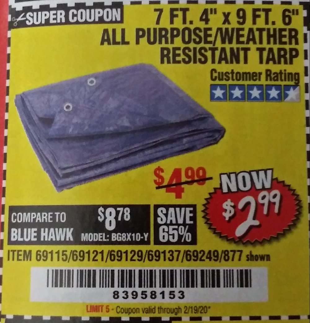 Harbor Freight Coupon, HF Coupons - 7 Ft. 4
