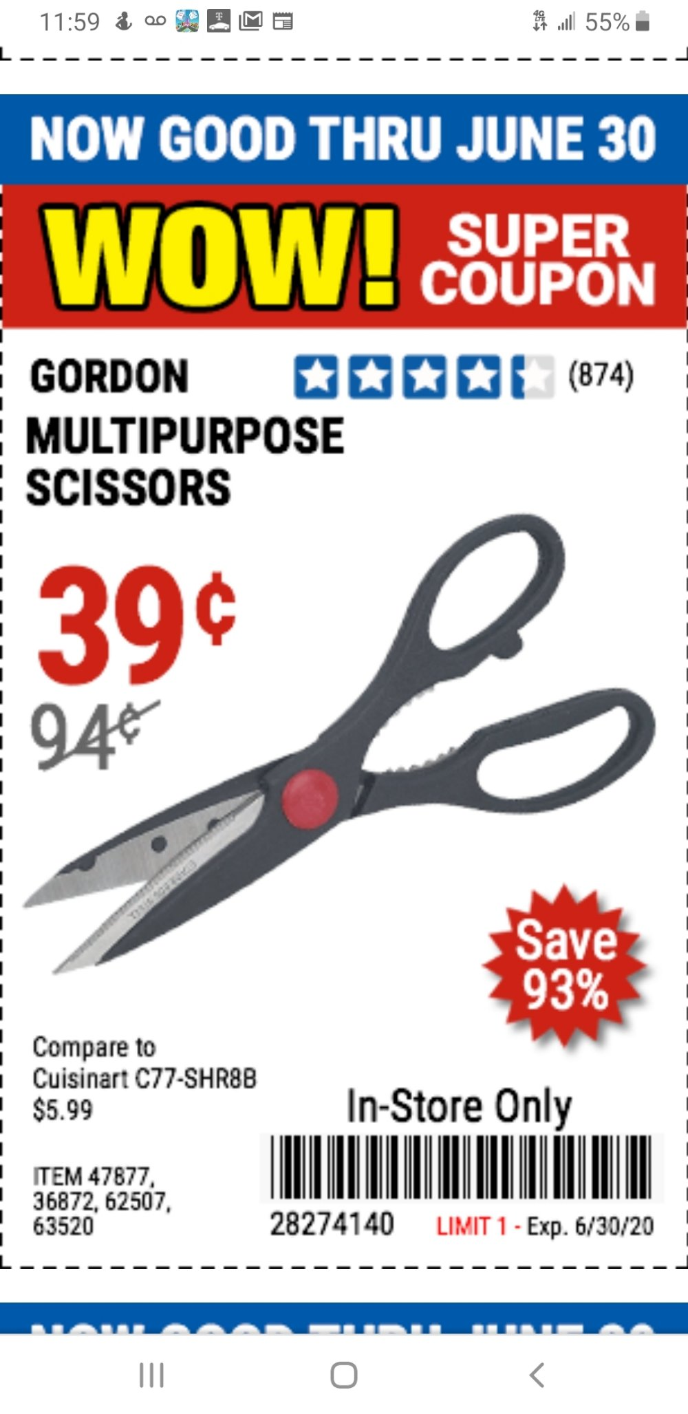 Harbor Freight Coupon, HF Coupons - scissors