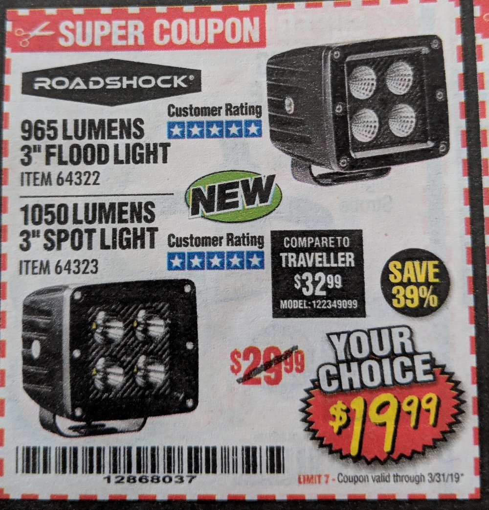 Harbor Freight Coupon, HF Coupons - 965 Lumens 3