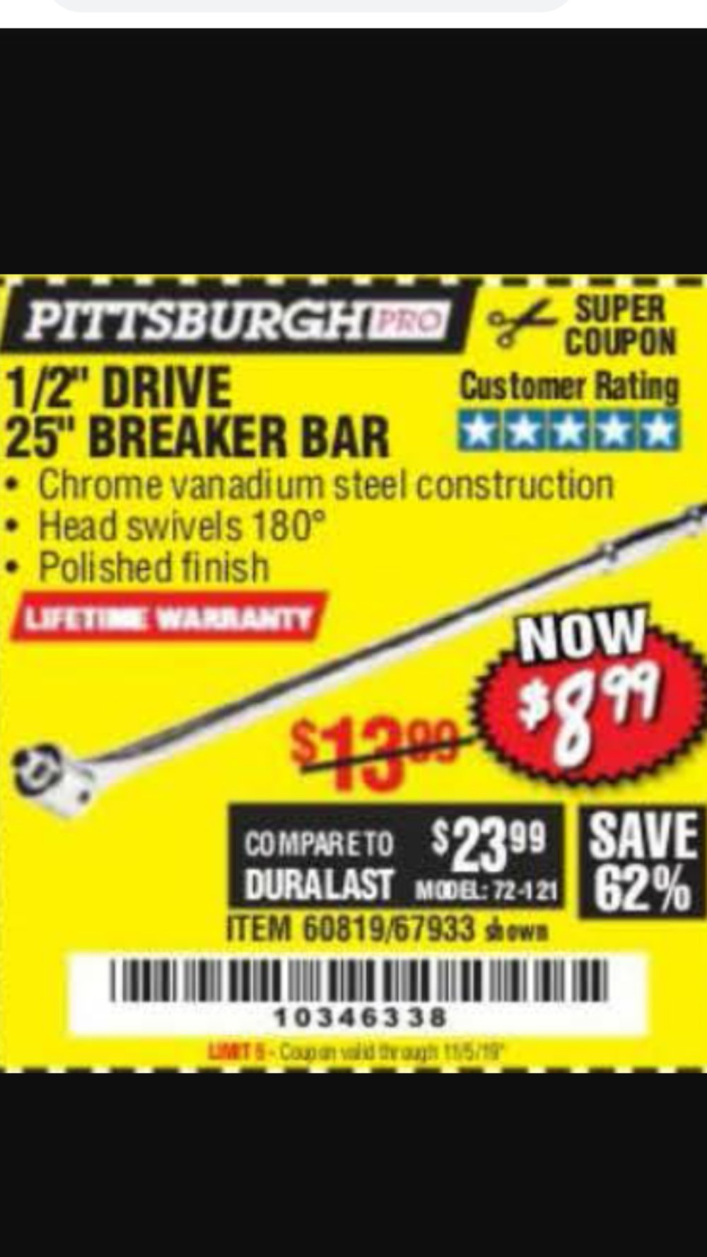 Harbor Freight Coupon, HF Coupons - Pittsburgh Pro 1/2