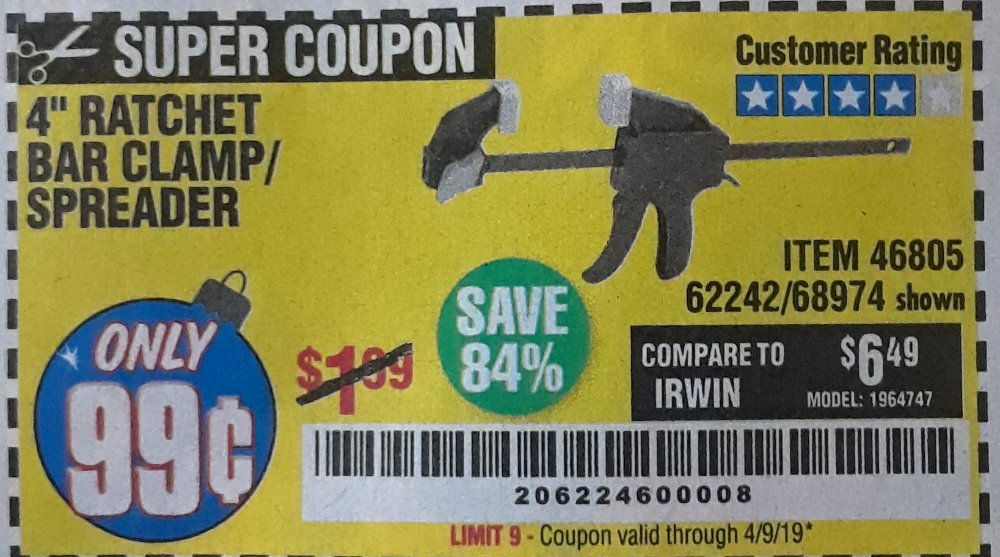 Harbor Freight Coupon, HF Coupons - 46085