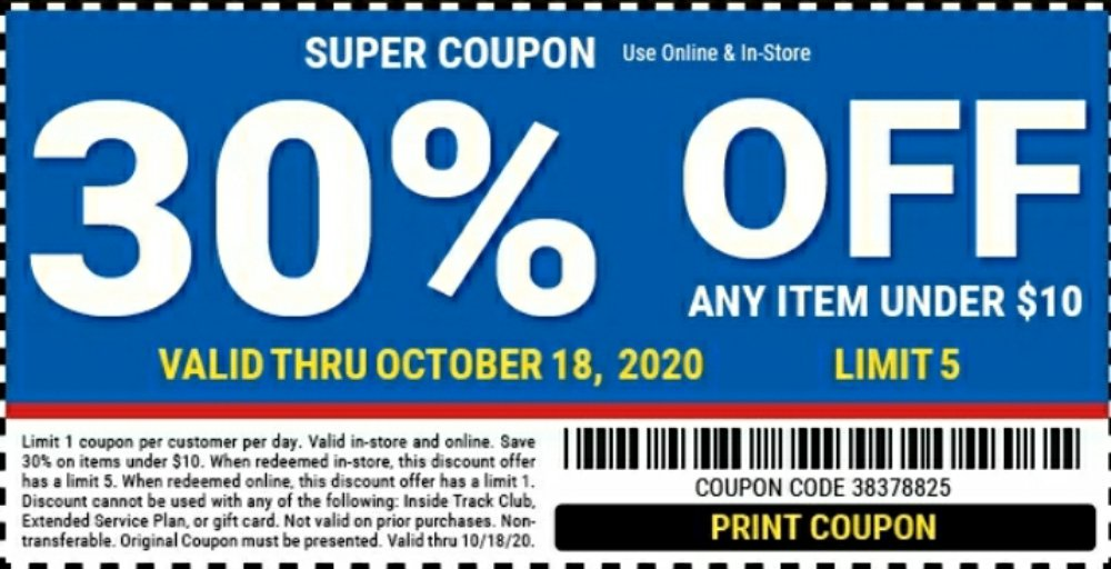 Harbor Freight Coupon, HF Coupons - 30% off any item under $10