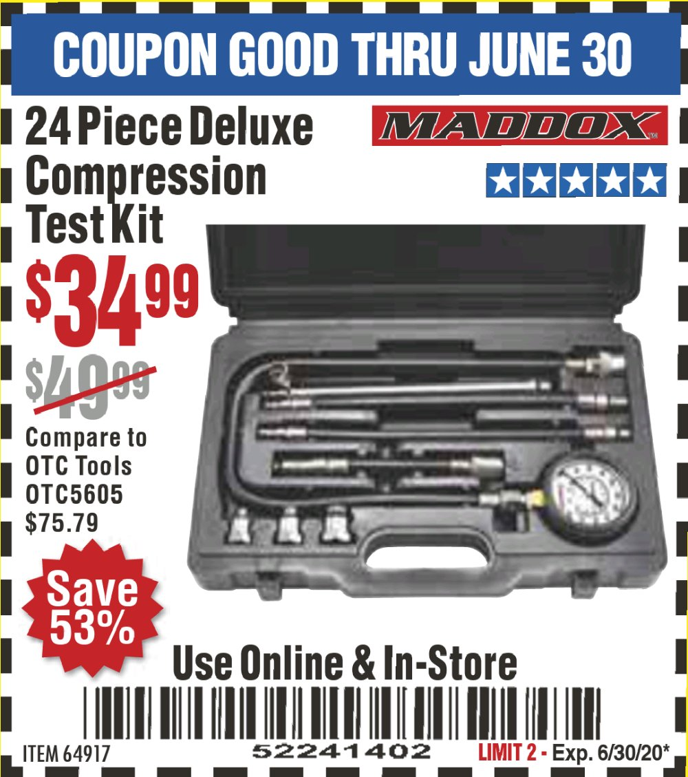 Harbor Freight Coupon, HF Coupons - Deluxe Compression Test