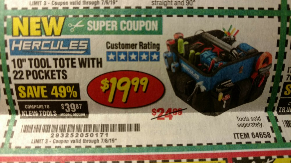 Harbor Freight Coupon, HF Coupons - Hercules 10