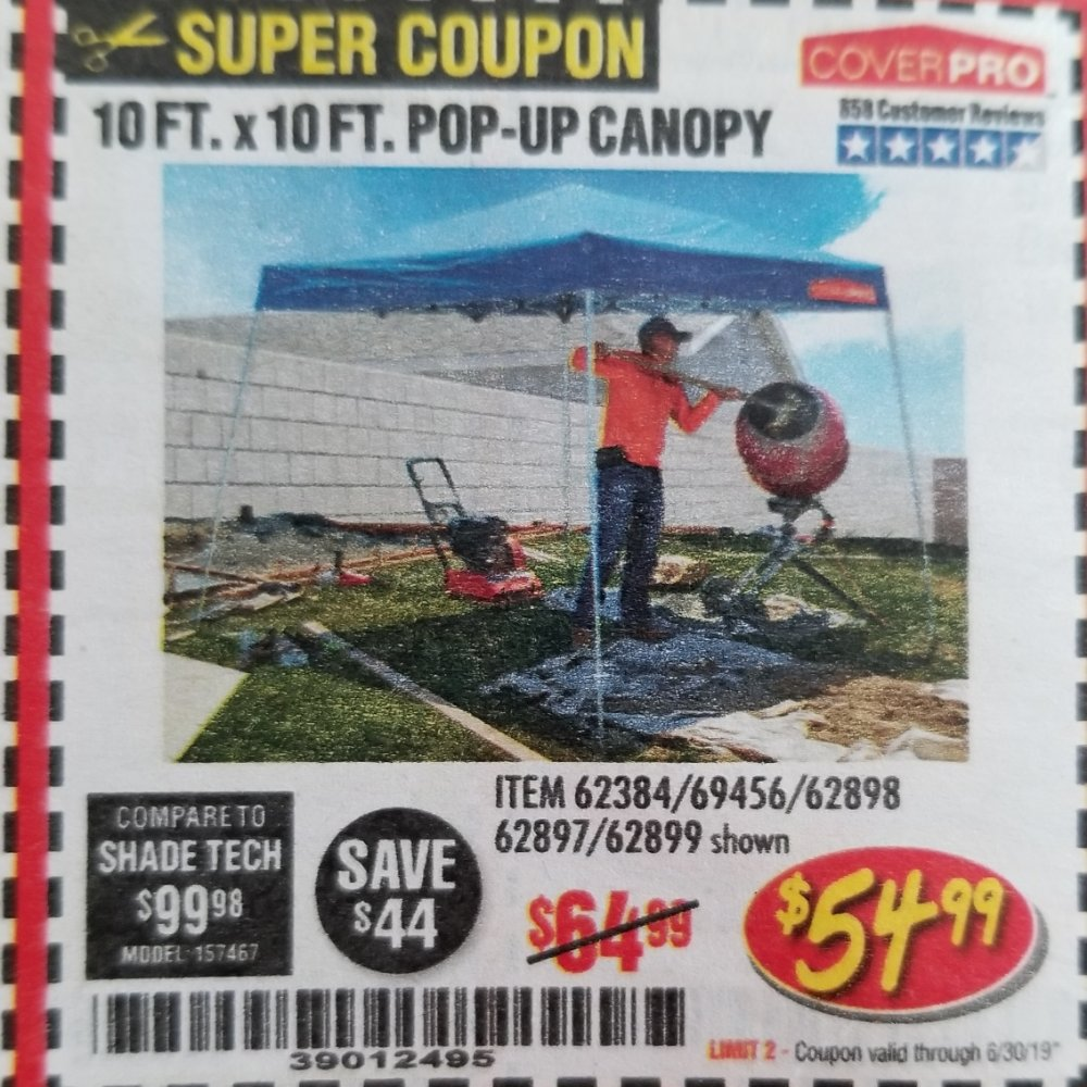 Harbor Freight Coupon, HF Coupons - 10 Ft. X 10 Ft. Popup Canopy