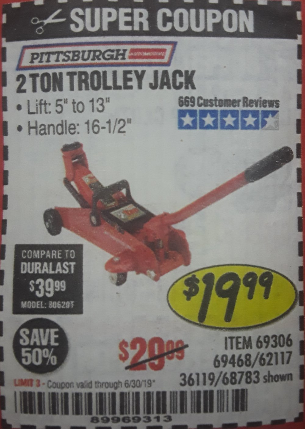 Harbor Freight Coupon, HF Coupons - 2 Ton Trolley Jack