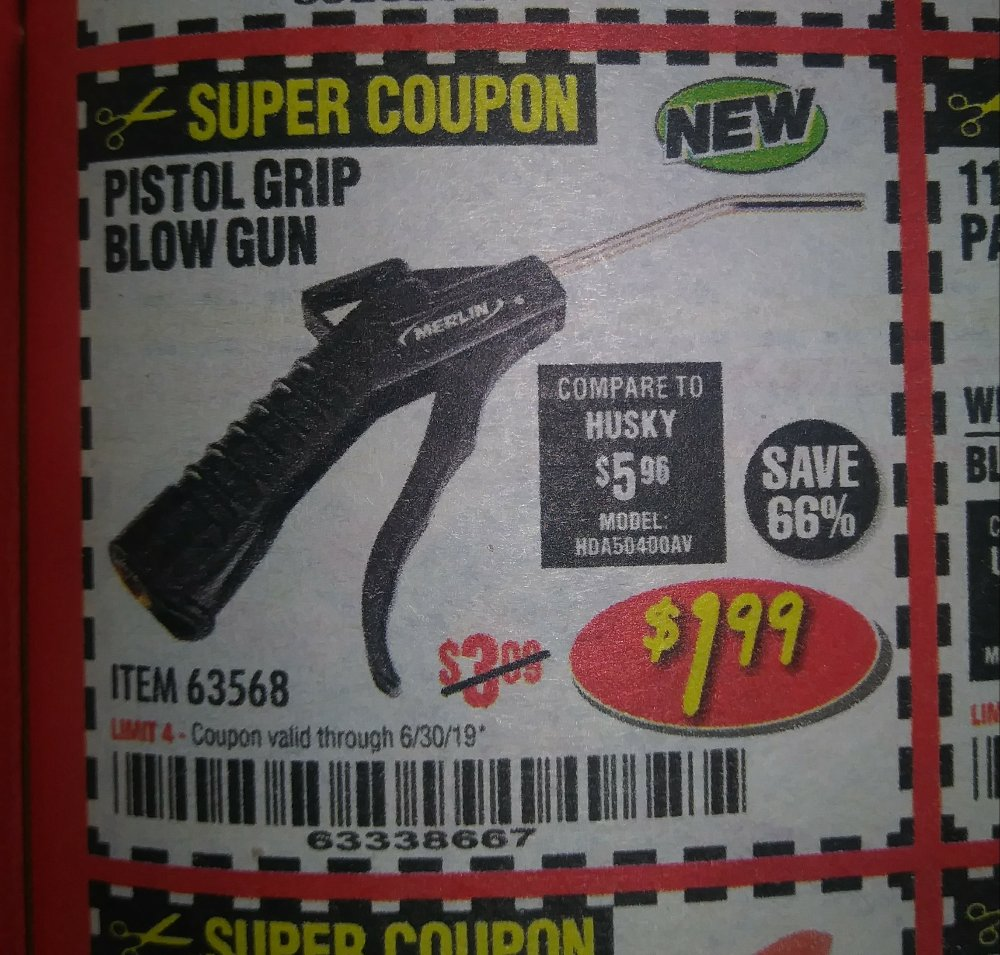 Harbor Freight Coupon, HF Coupons - Pistol Grip Blow Gun