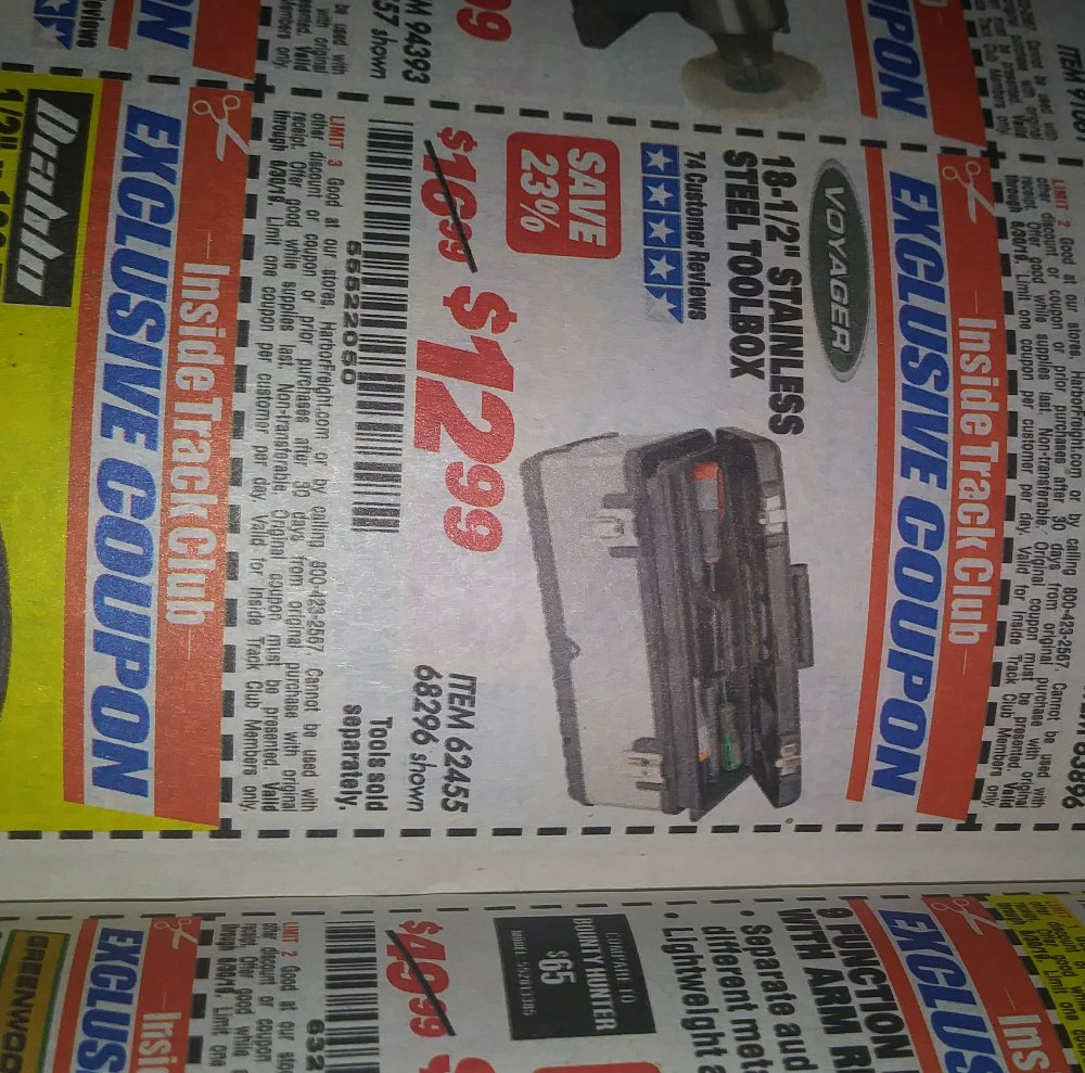 Harbor Freight Coupon, HF Coupons - 18-1/2