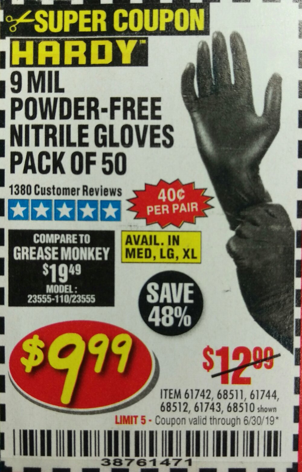 Harbor Freight Coupon, HF Coupons - Powder-free Nitrile Gloves Pack Of 50