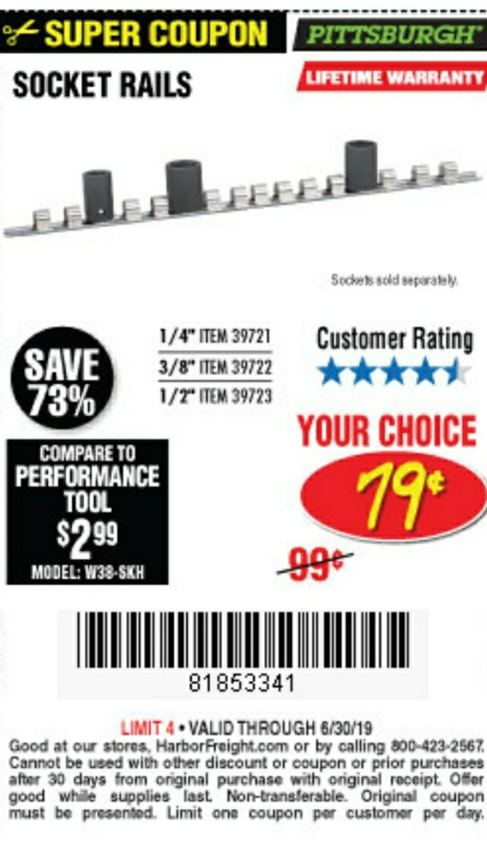 Harbor Freight Coupon, HF Coupons - Socket Rails