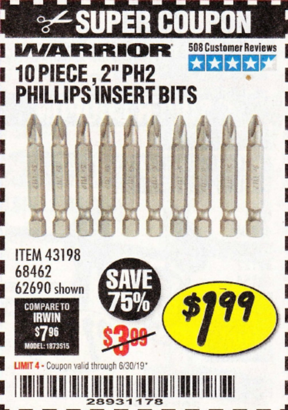 Harbor Freight Coupon, HF Coupons - 68462