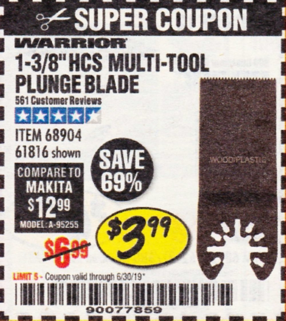 Harbor Freight Coupon, HF Coupons - 1-3/8
