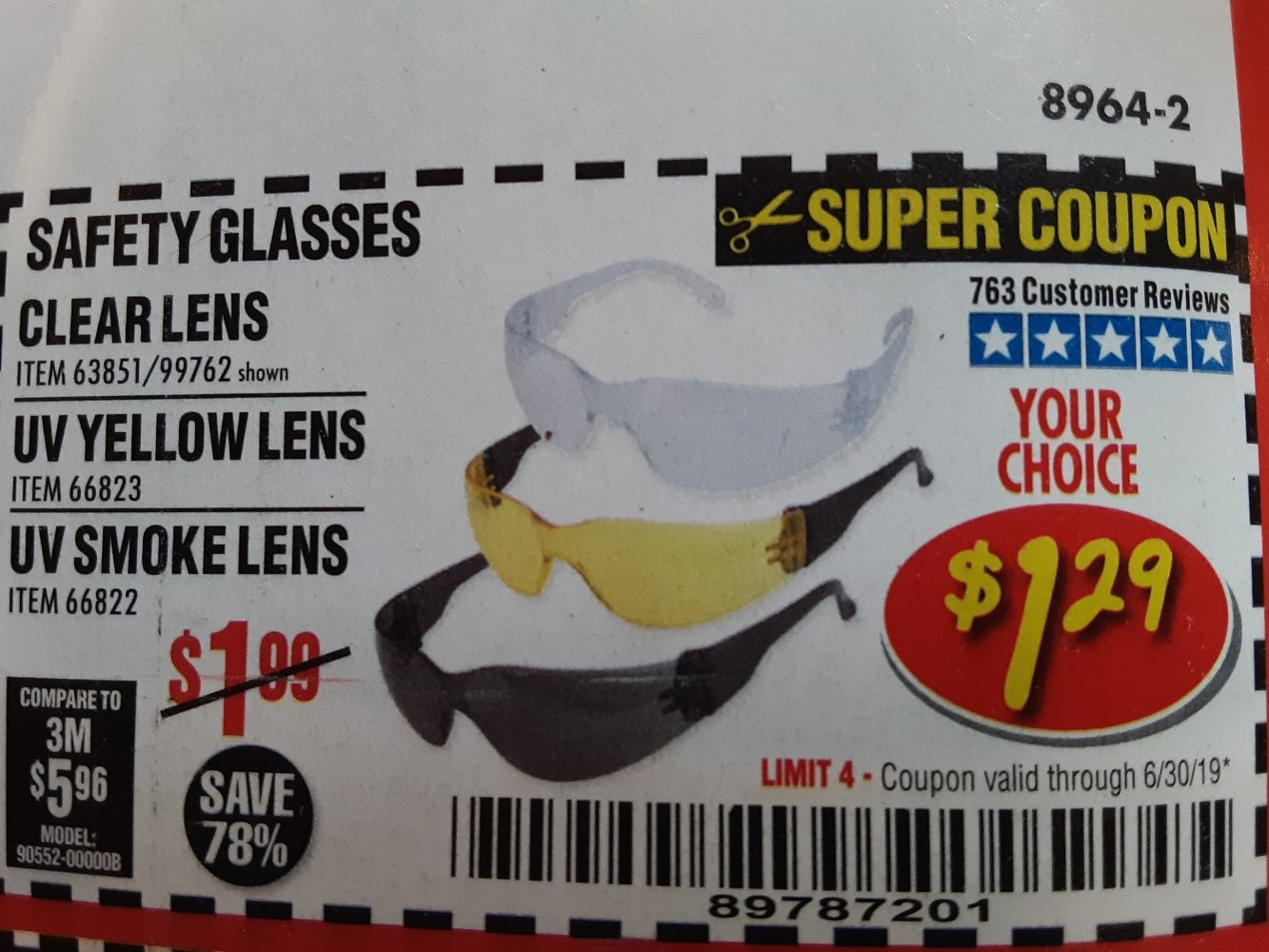 Harbor Freight Coupon, HF Coupons - Safety Glasses