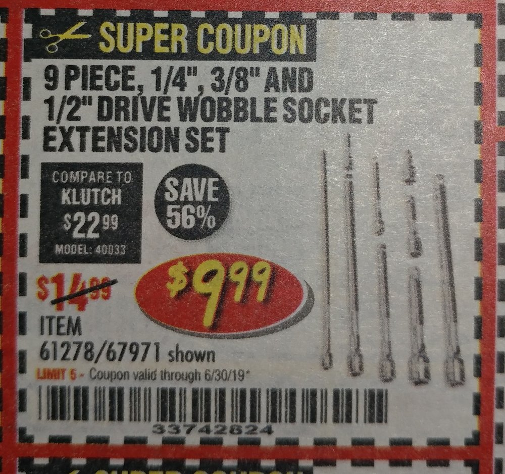 Harbor Freight Coupon, HF Coupons - 9 Piece 1/4