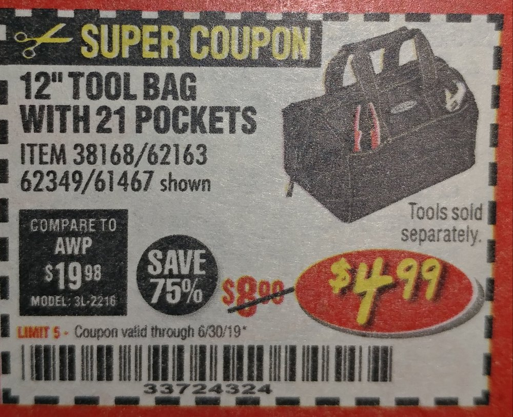 Harbor Freight Coupon, HF Coupons - 12