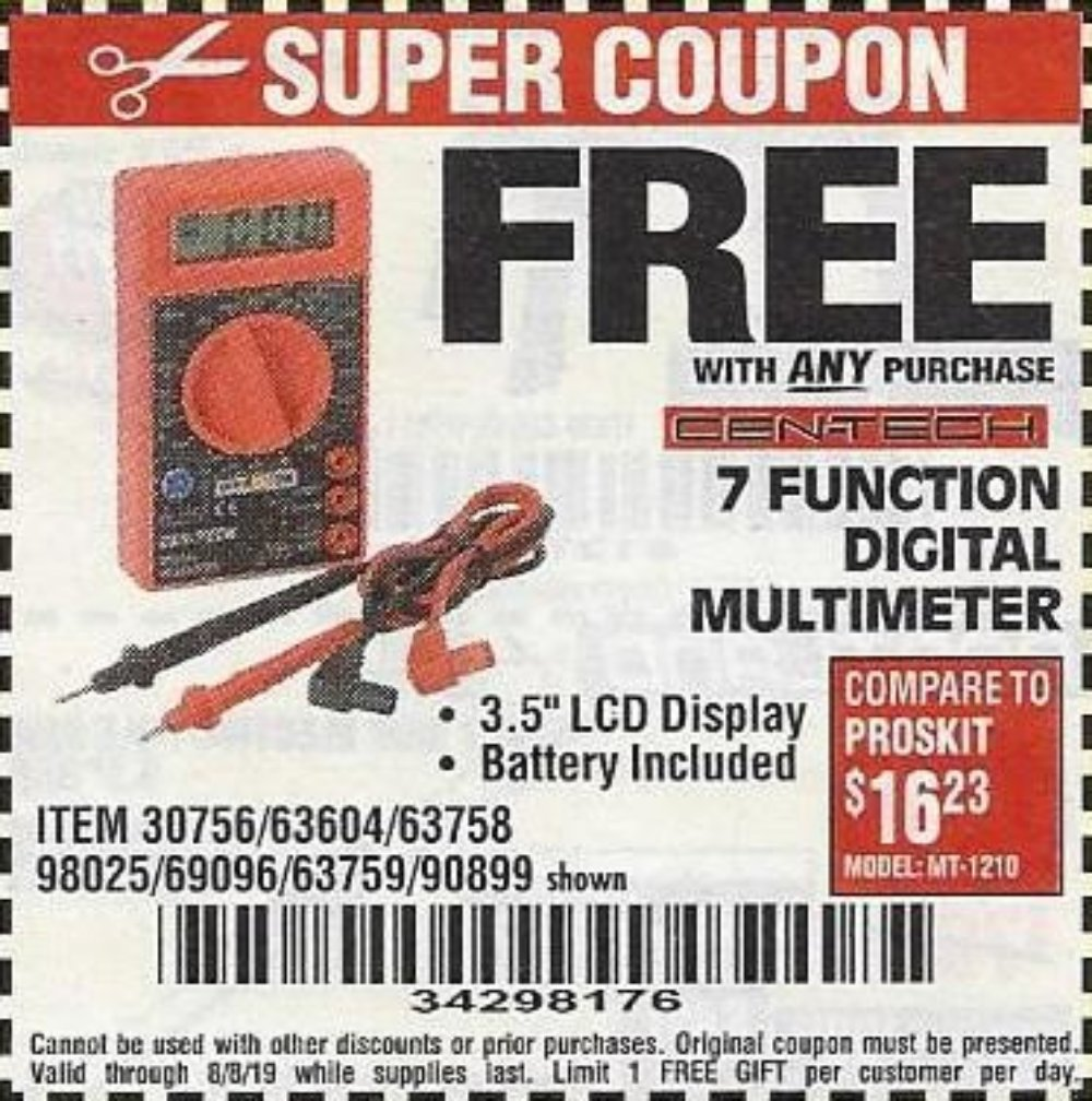 Harbor Freight Coupon, HF Coupons - 30756