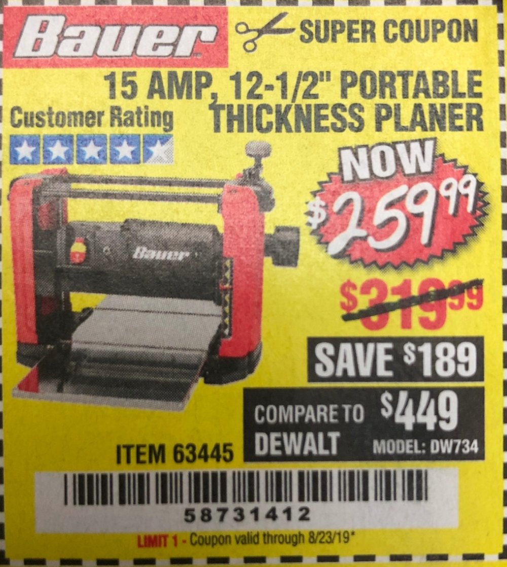 Harbor Freight Coupon, HF Coupons - 15 Amp 12 1/2