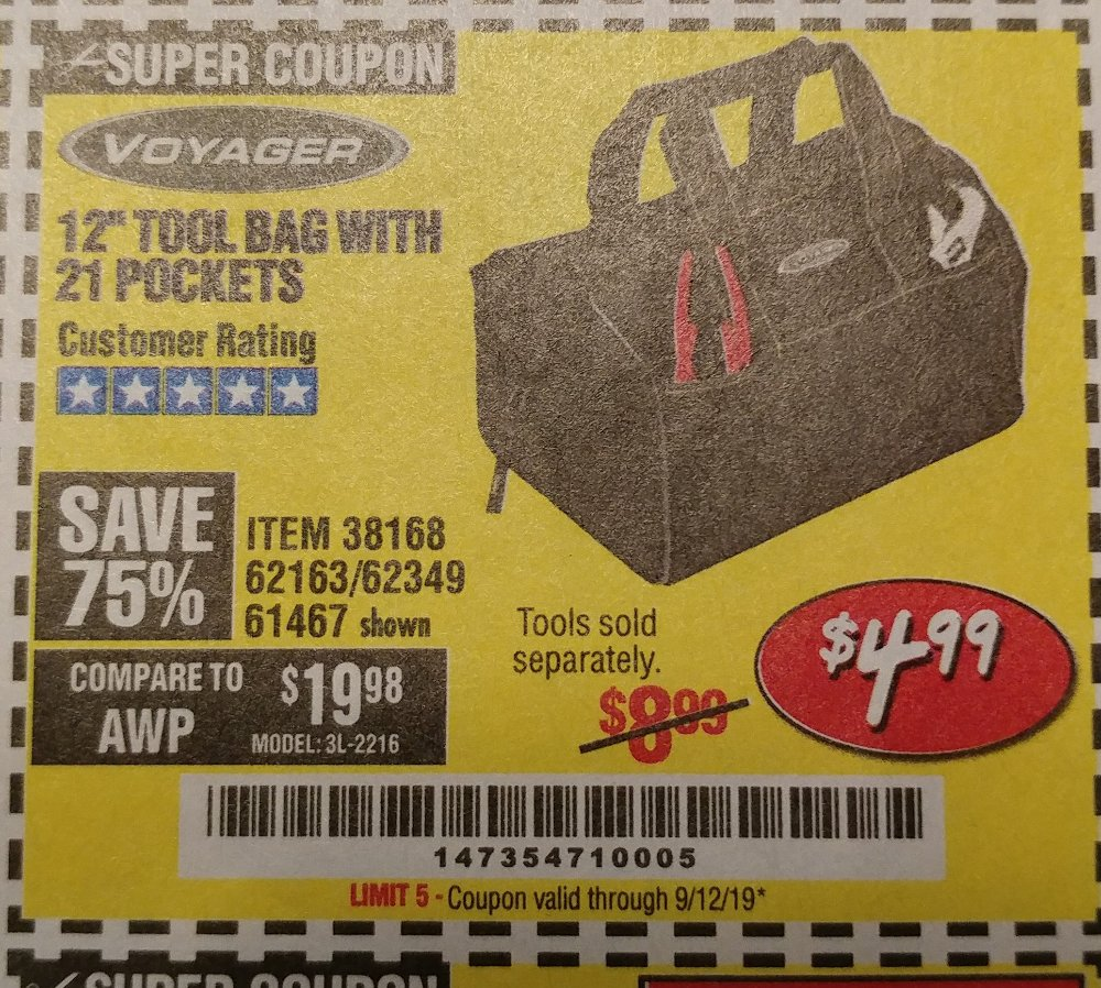 Harbor Freight Coupon, HF Coupons - Voyager 12