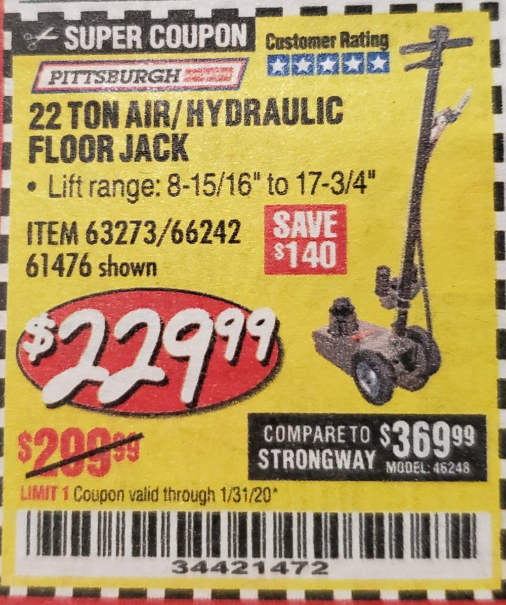 Harbor Freight Coupon, HF Coupons - 22 Ton jack