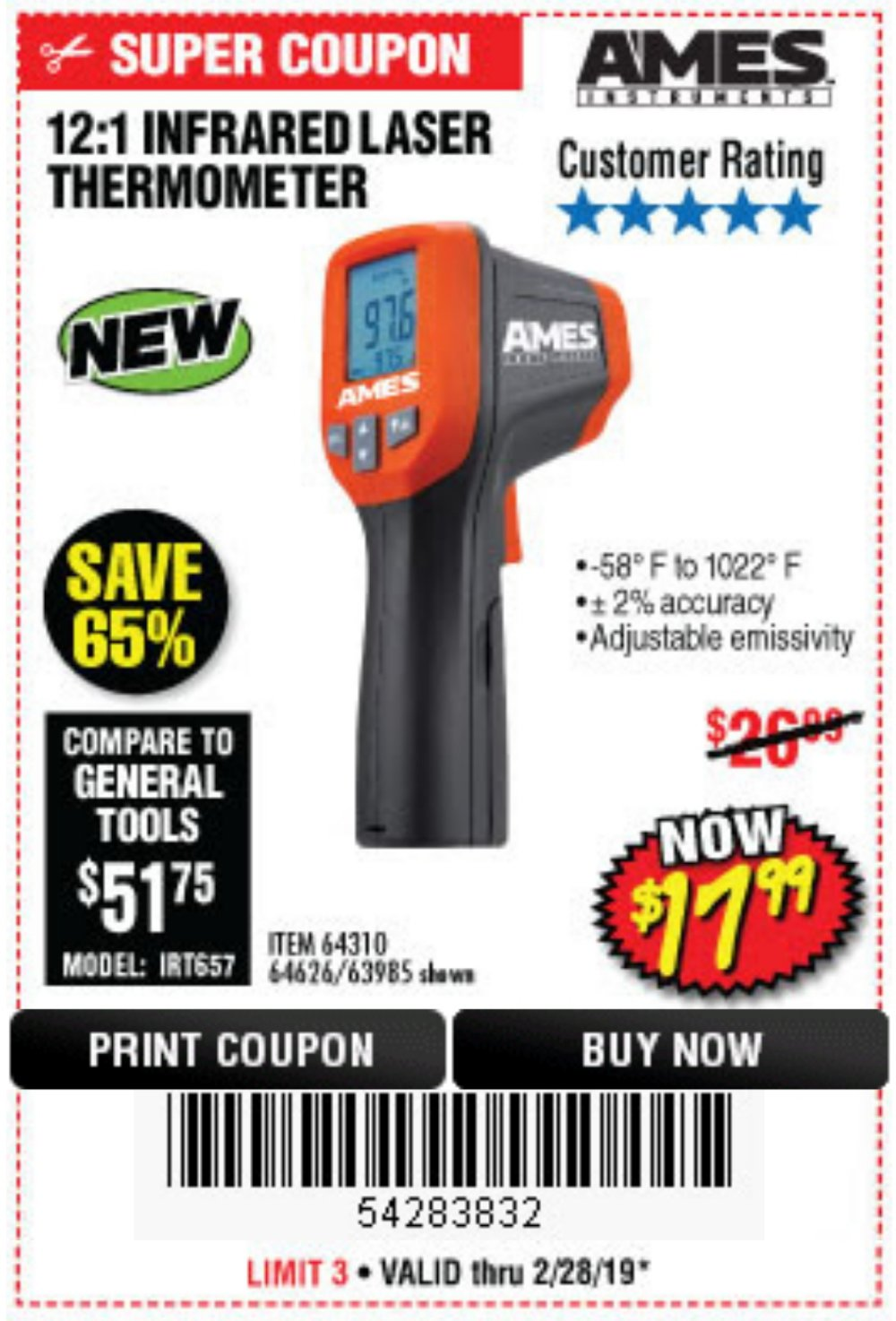 Harbor Freight Coupon, HF Coupons - 54283