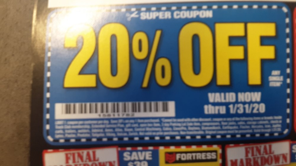 Harbor Freight Coupon, HF Coupons - 20 percent off coupon