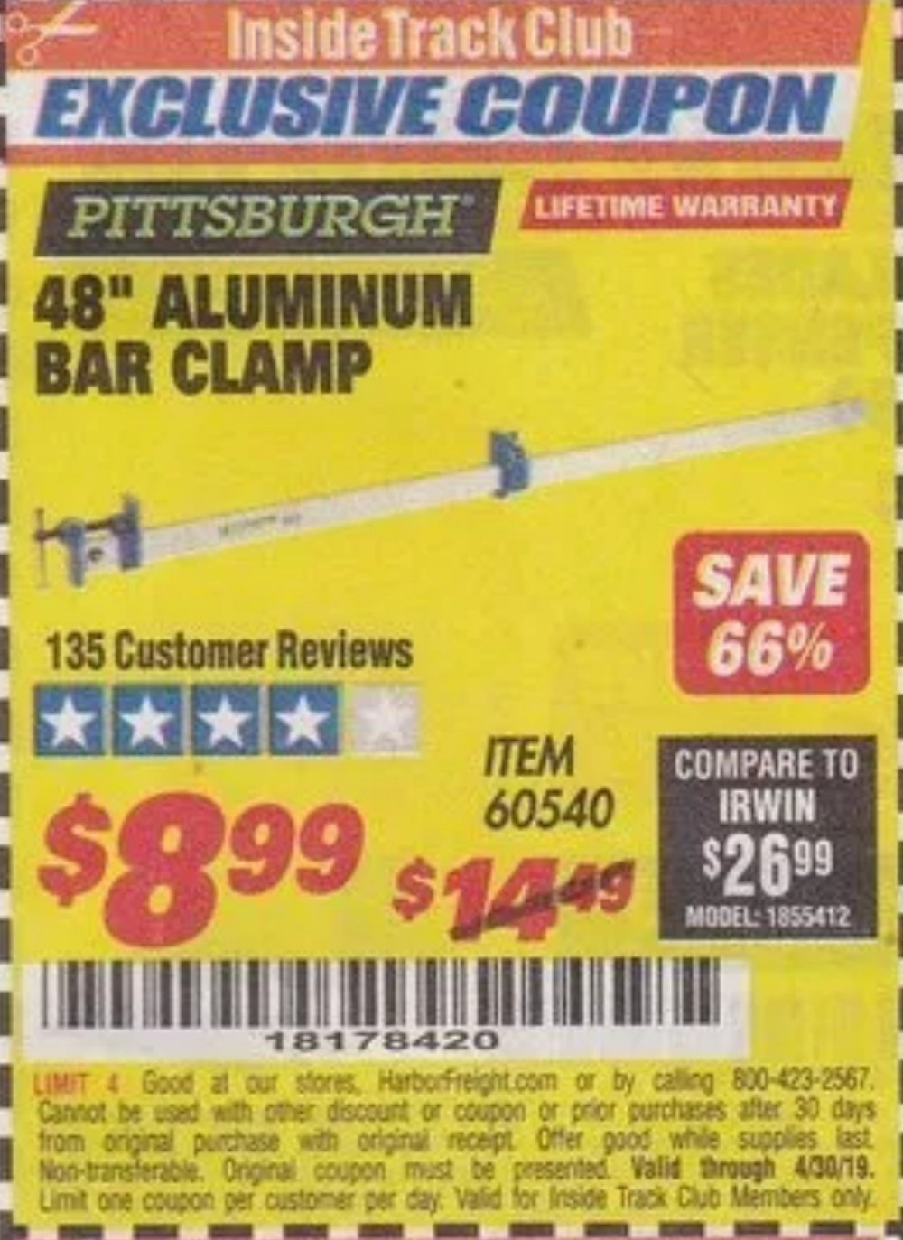 Harbor Freight Coupon, HF Coupons - Pittsburgh 48