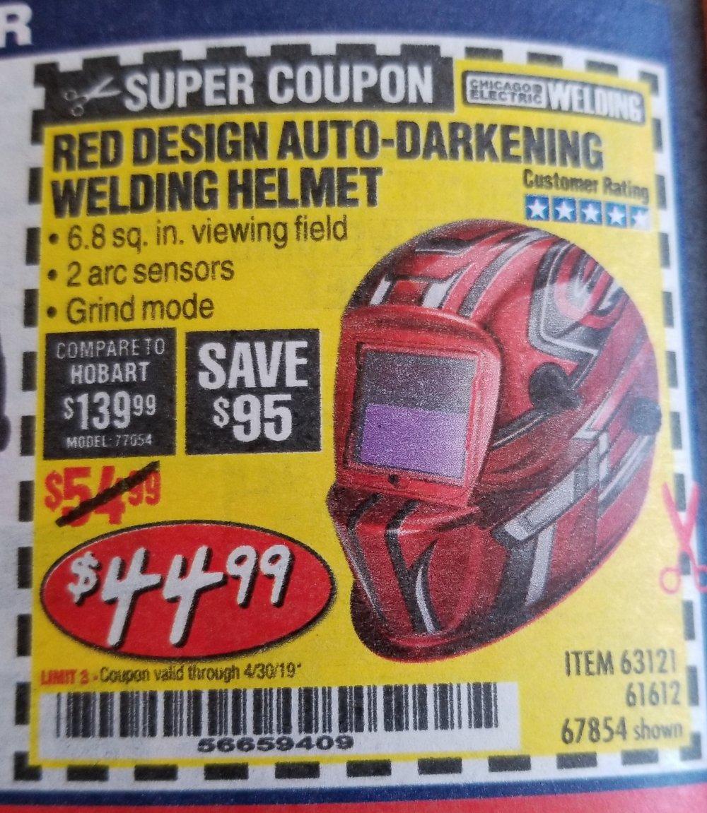 Harbor Freight Coupon, HF Coupons - Auto-darkening Welding Helmet With Racing Stripe Design